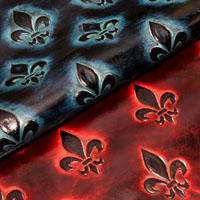 Fleurdelis leather