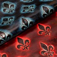 Fleurdelis leather