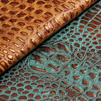 Gator hornback leather