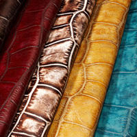 Jumbo croc leather