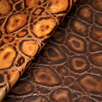 Tortoise croc leather