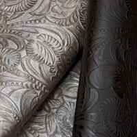 Tropical tooled leather
