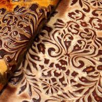 Verona damask leather