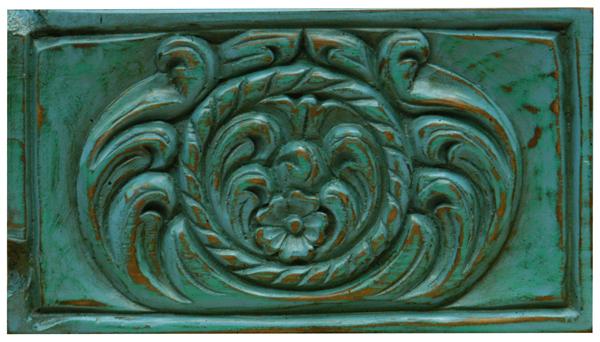 Old spanish brown verde turquesa & azul turquesa