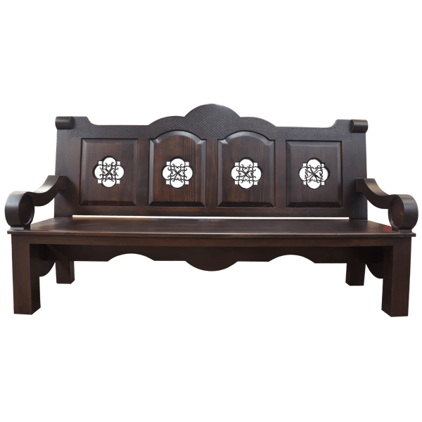 Western Hand forged iron Benches bch21