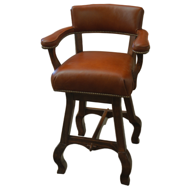 Spanish Colonial Leather Bar Stools bst06
