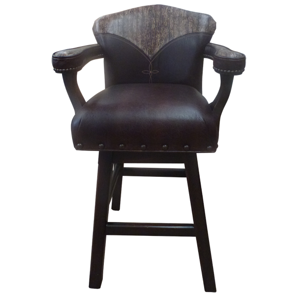 Spanish Colonial Leather Bar Stools bst27b