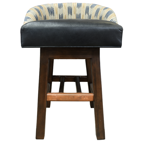 Spanish Colonial Copper Fabric Bar Stools bst64a