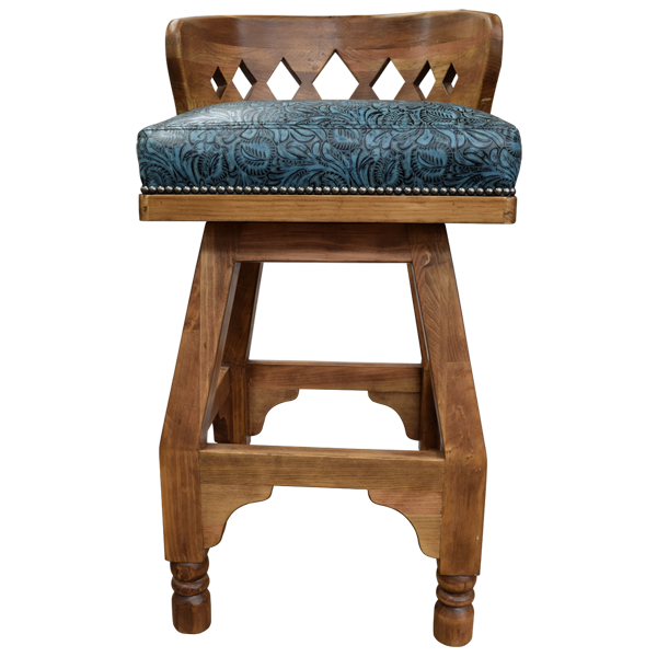 Spanish Colonial Leather Bar Stools bst74
