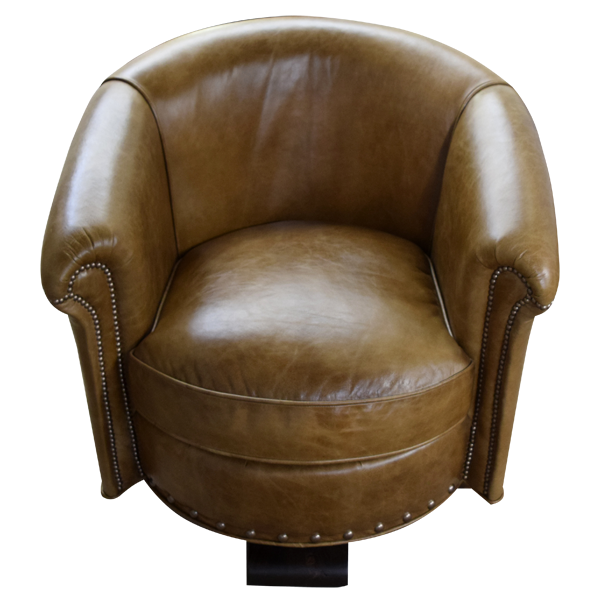Western Leather Upholstered Swivel Chairs chr28c