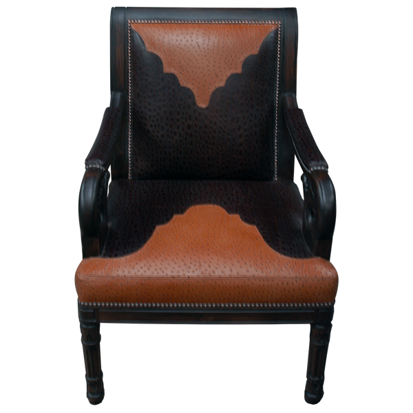Western Leather Upholstered Chairs chr48a